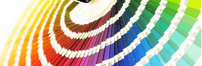 Kleurenwaaier kleurrijk schilders